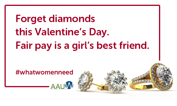 Fair Pay is one of the few things women need! (Courtesy to AAUW)